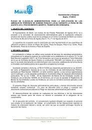 pliego administrativo feria de dia 2013 - Ayuntamiento de Motril