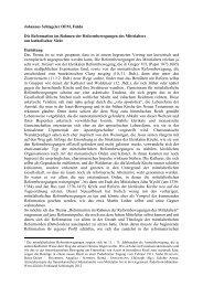 P. Johannes Schlageter, Die Reformation im Rahmen der