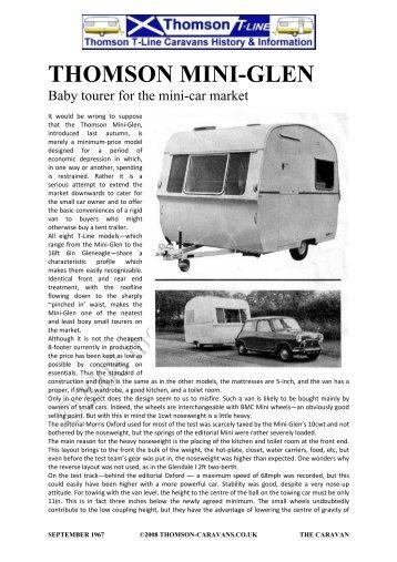 1967 Minitest - Thomson Caravans