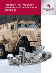 protec™ high mobility independent suspension series 50 - Meritor
