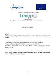 progetto LEXOP - Irma