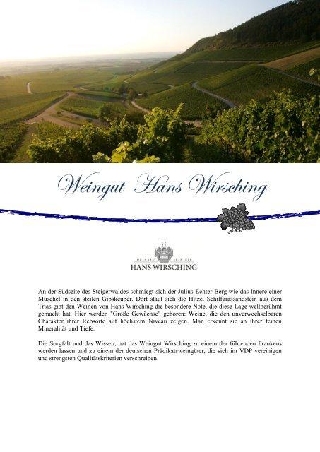 Weingut Hans Wirsching - winogrono.de
