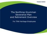 Severance and TRW Heritage Retirement Overview - Benefits Online