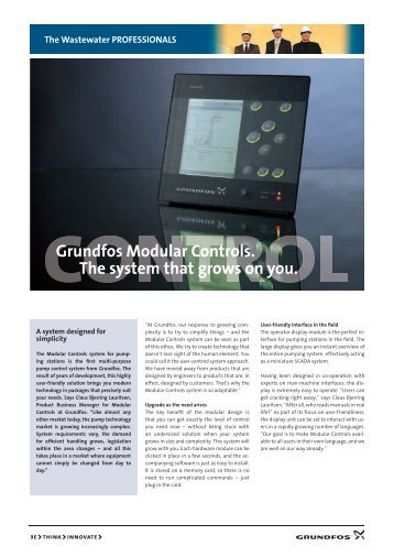Grundfos Modular Controls. The system that grows on you.