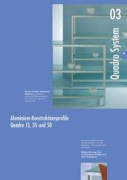 System Quadro - Glas und Spiegel Shop