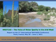 Report on the 3rd International WATARID Conference, Paris, France ...