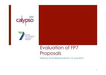 Evaluation of FP7 Proposals - Seventh EU Framework Programme ...