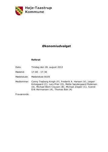Økonomiudvalget - Høje-Taastrup Kommune