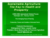 The Key to Health and Prosperity - Leopold Center for Sustainable ...