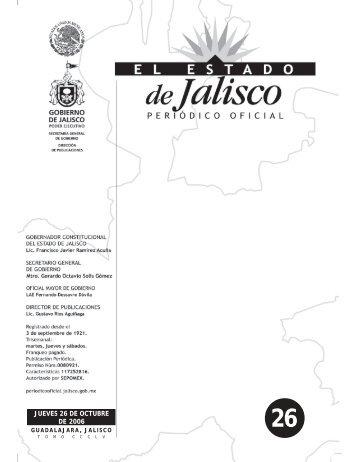Sección I - Periódico Oficial El Estado de Jalisco