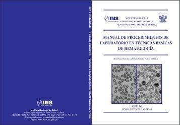 Procedimientos de laboratorio en Hematología - BVS - INS - Instituto ...