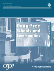 Gang-Free Schools and Communities Initiative - Office of Juvenile ...