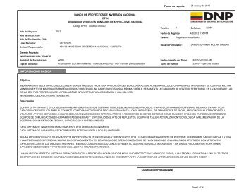 I. INFORMACION BASICA - Infodefensa