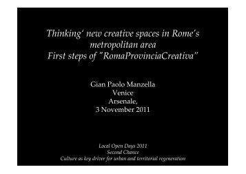 Gian Paolo Manzella - Secondchanceproject.eu