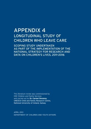 NSRD Appendix 4 - Department of Children and Youth Affairs