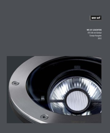 WE-EF LEUCHTEN ETC130 mit Gimbal Europa Ausgabe 2012