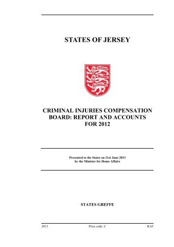 Criminal Injuries Compensation Board: Report ... - States Assembly