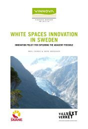 White Spaces Innovation in Sweden - Innovation policy for ... - Vinnova