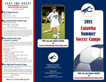2011 Catawba Summer Soccer Camps