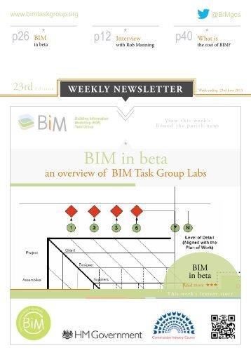 BIM Task Group Newsletter 23rd Edition