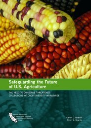Safeguarding the Future of US Agriculture - Global Crop Diversity Trust