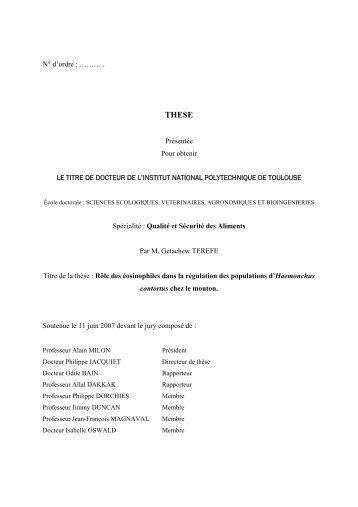 Rôle des éosinophiles dans la régulation des populations d ...