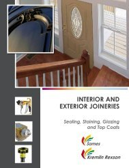 InterIor and exterIor joInerIes - Kremlin Rexson Sames