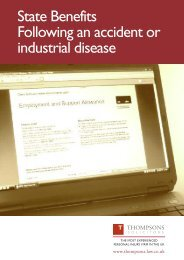 State Benefits following an accident or industrial disease PDF