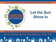 Let the Sun Shine In - Iowa League of Cities