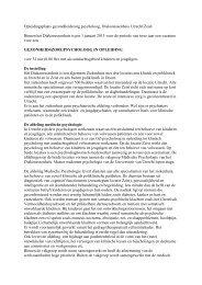 Opleidingsplaats gezondheidszorg psycholoog ... - RINO Groep
