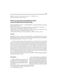Effects of Antecedent Precipitation Index on the Rainfall-Runoff ...