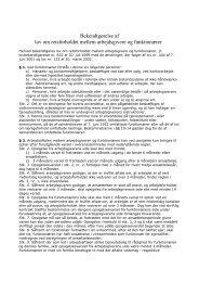 Bekendtgørelse af lov om retsforholdet mellem arbejdsgivere og ...
