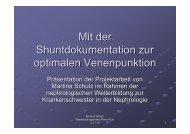 Mit der Shuntdokumentation zur optimalen ... - WB-nephro.de