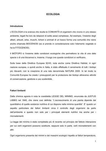 Dispensa Ecologia.pdf - Sdasr.unict.it