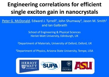 Engineering correlations for efficient single exciton gain in nano ...