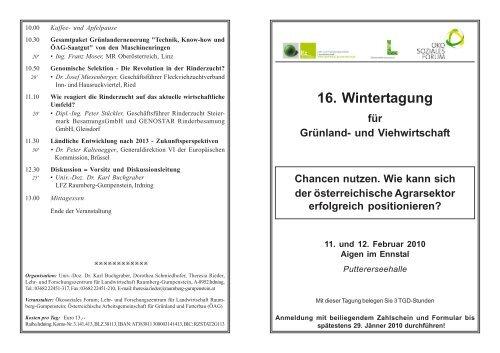 Programm - Zentrale Arbeitsgemeinschaft österreichischer ...
