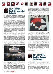 25th CONTROL – Quality Shapes the Future 25. CONTROL ...