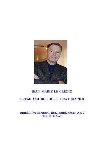 JEAN-MARIE LE CLÉZIO PREMIO NOBEL DE LITERATURA 2008