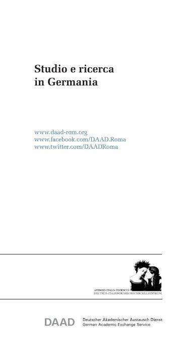 Studio e ricerca in Germania (ristampa - DAAD