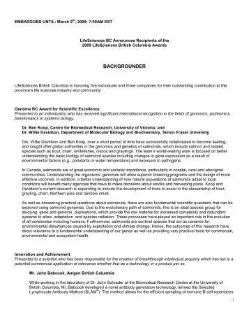 PDF Backgrounder - LifeSciences BC