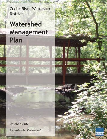 Cover Page and Table of Contents - Cedar River Watershed District