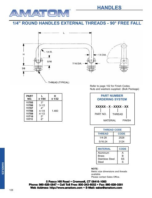 Hinged Handles - Electronic Fasteners Inc