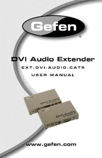 EXT-DVI-AUDIO-CAT5 .indd - Gefen
