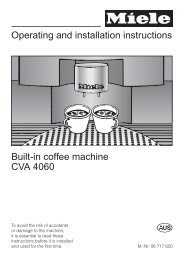 Operating and installation instructions Built-in coffee machine CVA ...