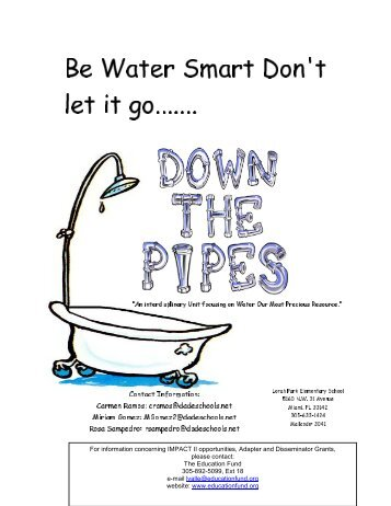 Be Water Smart Don't Let It Go Down The Pipes - The Education Fund