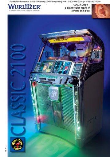 Wurlitzer Classic 2100 Jukebox Flyer - BMI Gaming