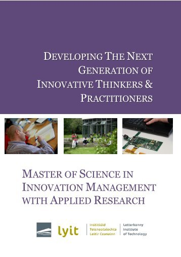 MSC in Innovation Management with Applied Research Brochure
