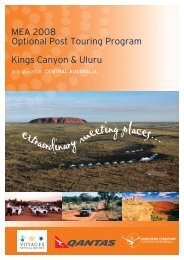 MEA 2008 Optional Post Touring Program Kings Canyon & Uluru