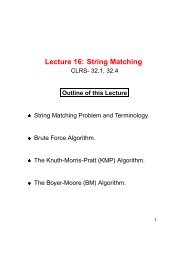 Lecture 16: String Matching
