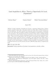 Land Acquisition in Africa: Threat or Opportunity for Local ...